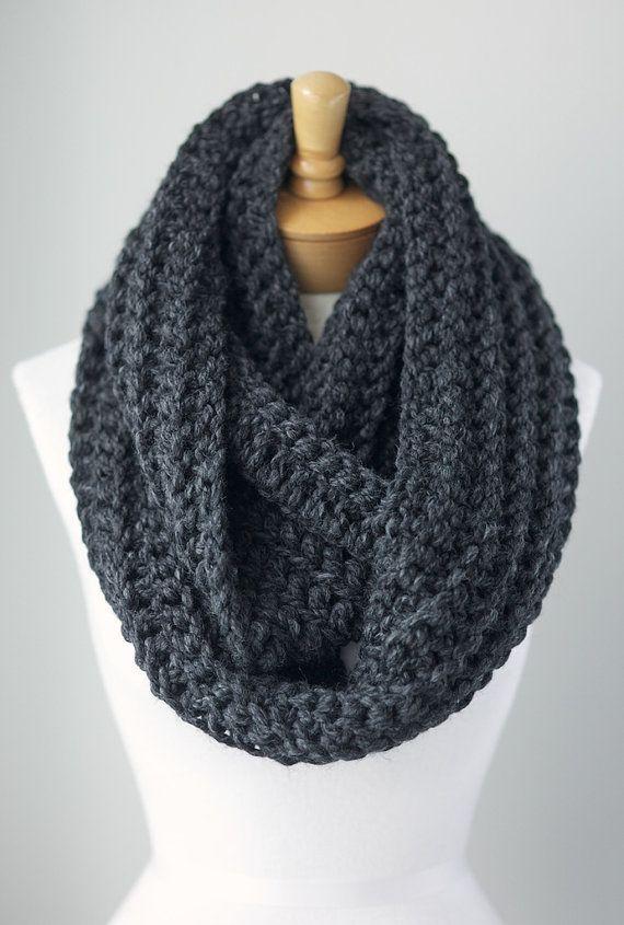 chunky gray infinity scarf grey eternity scarf