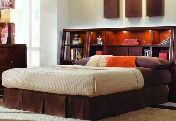 headboard with cubby holes and light house ideas pinterest. Black Bedroom Furniture Sets. Home Design Ideas