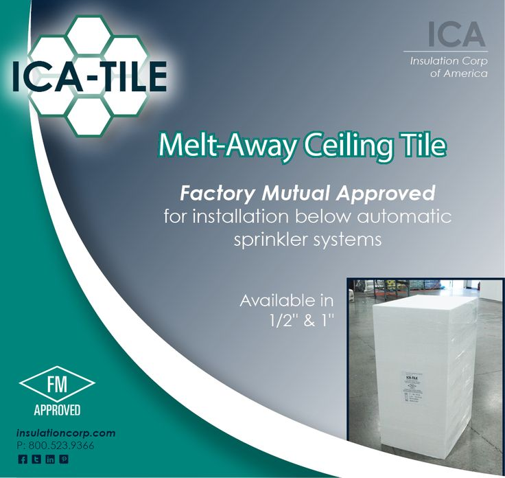 Melt Away Ceiling Tiles Pin by Insulation Corporation of America on ICA Products ...
