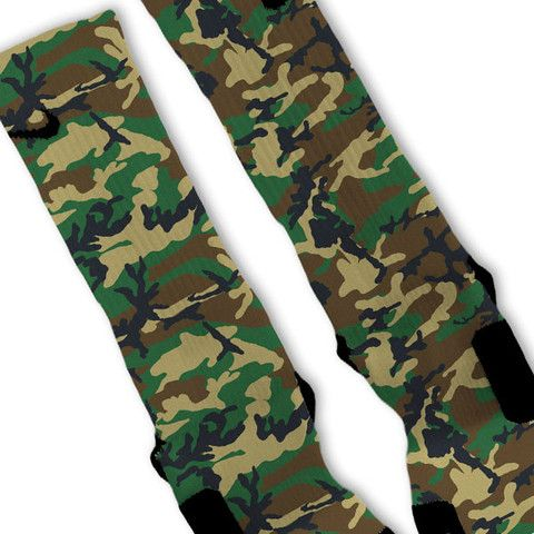 camouflage custom nike elite socks custom nike elites