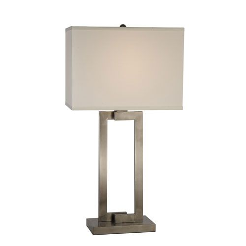 riley brushed nickel table lamp trend shaded table lamps lamps. Black Bedroom Furniture Sets. Home Design Ideas