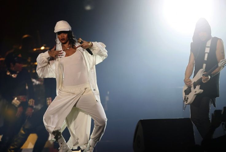 Unapologetic. Rihannagoes hard during a performance on Oct. 19 in Abu Dhabi