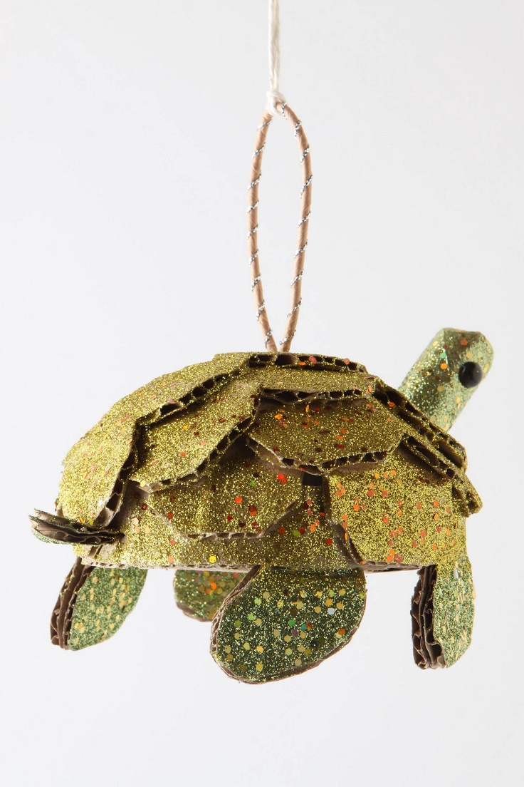 Anthropologie Turtle Ornament... out of cardboard box cuttings.
