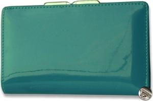 Lakovaná peňaženka s klipom, modrá