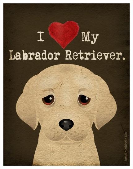 I love my labrador retriever.  | dogs | dog art | personalized pet prints | pet art