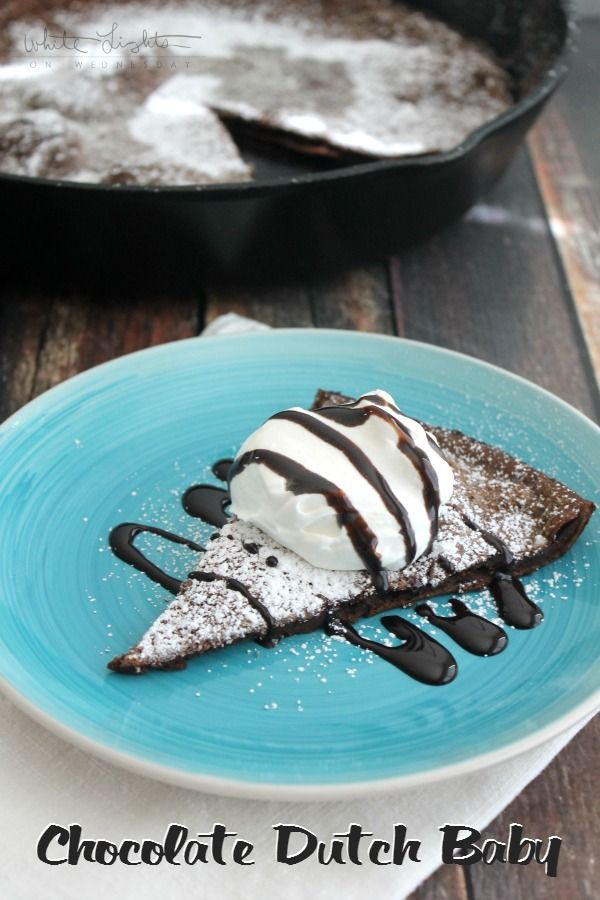 Chocolate Dutch Baby | White Lights on Wednesday