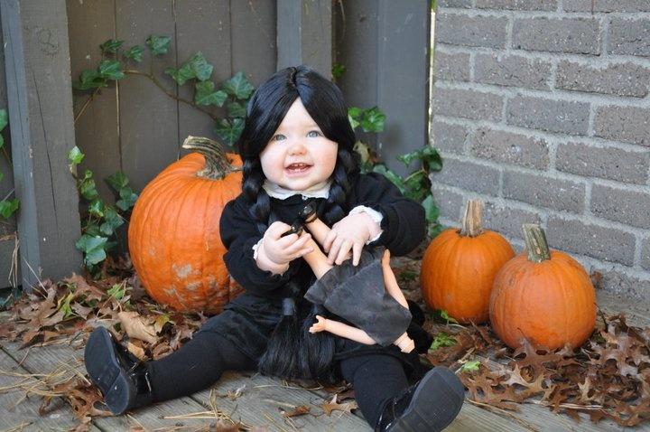 Baby Halloween Costume Wednesday Addams Halloween  sc 1 st  Meningrey & Baby Wednesday Addams Costume - Meningrey