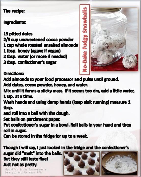 no bake fudgy snow balls recipes dishmaps no bake fudgy snow balls ...