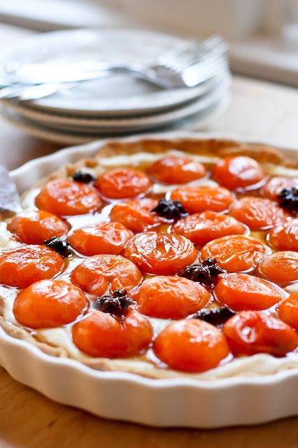 home: Honey Roasted Apricot Tart with Mascarpone Cream and Star Anise ...