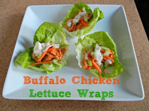 Buffalo Chicken Lettuce Wraps with Buttermilk Blue Cheese Dressing # ...
