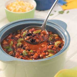 Three-Bean Chili | Recipe