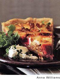 Goat Cheese, Roasted Beet, and Walnut Tart Recipe *****