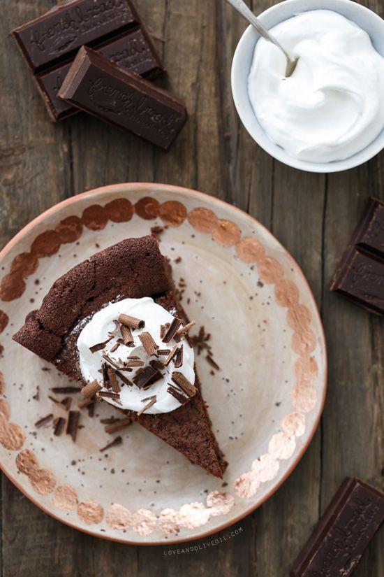 Bittersweet Chocolate Bourbon Tart - Like a fancy spiked brownie baked ...