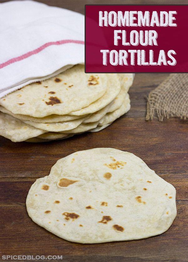Homemade Flour Tortillas | Spicedblog.com