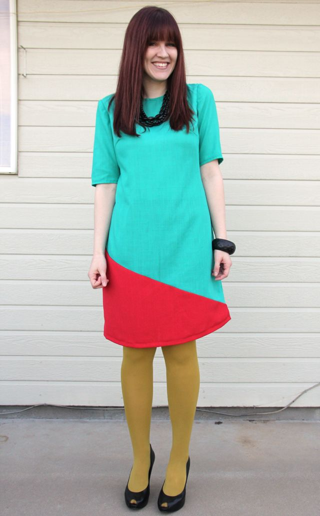 Days of holiday party dresses krista s bright and cheery colorblock