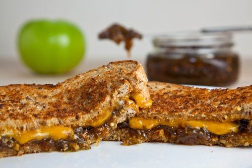 Grilled Cheese Sandwich with Green Tomato and Jalapeno Jam | Recipe