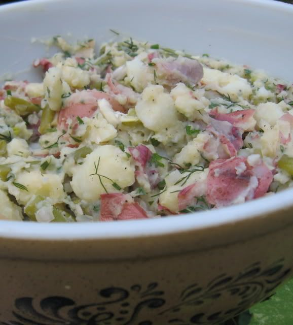 Gluten-Free Bay: My Famous Herbed New Potato Salad with Green Beans