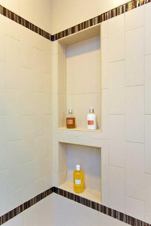 shower niche bathroom pinterest