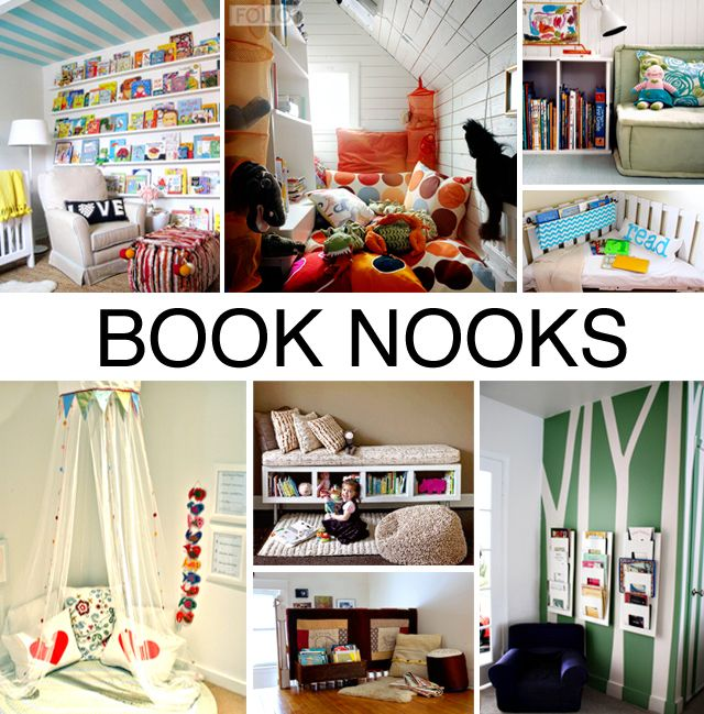 Set Up a Book Nook - tons of great inspiration here!