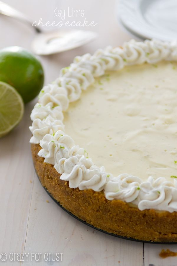 The perfect Key Lime Cheesecake - perfectly smooth, sweet and a little ...