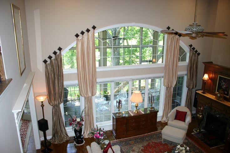 wow amazing large window treatment large round. Black Bedroom Furniture Sets. Home Design Ideas