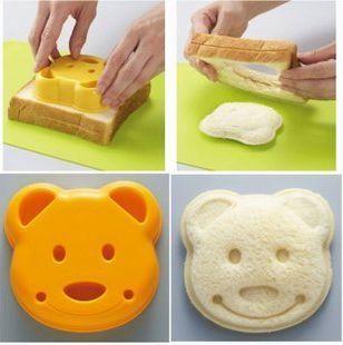 Cute Little Bear Easy Sandwich Maker Bread Mold Mould Stamp Cutter ...