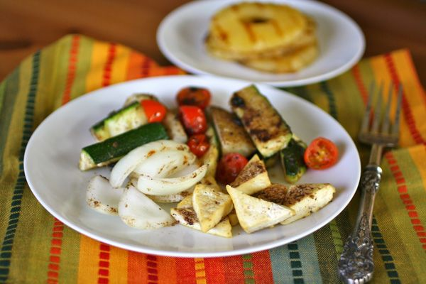 Meatless: Jerk veggies and tofu with grilled pineapple SETTLE IN FOR ...