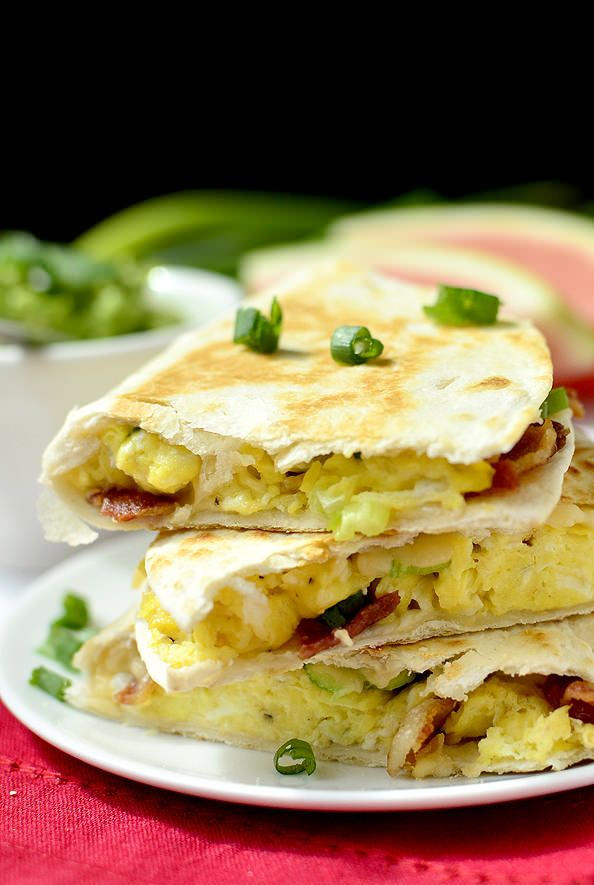 ... Breakfast Quesadillas are seriously mouthwatering! | iowagirleats.com