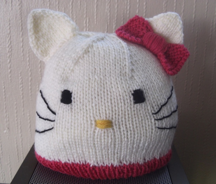 Hello Kitty Hat Knitting Baby Hats & Booties Pinterest