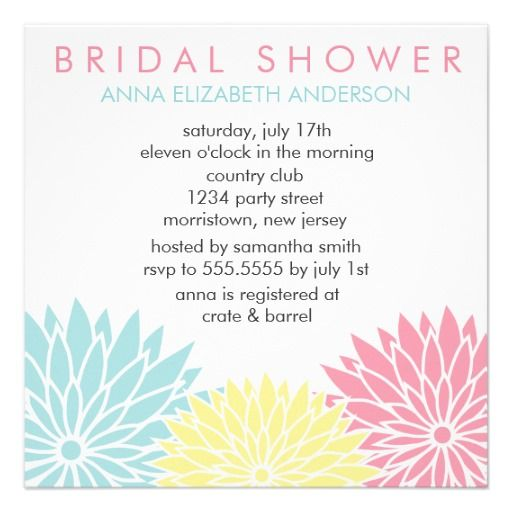 Floral Bridal Shower Invitations we are given they also recommend ...