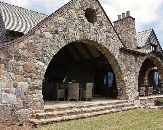 Charming stone wood tudor style home homes the english styles - Wood and stone house plans a charming symbiosis ...