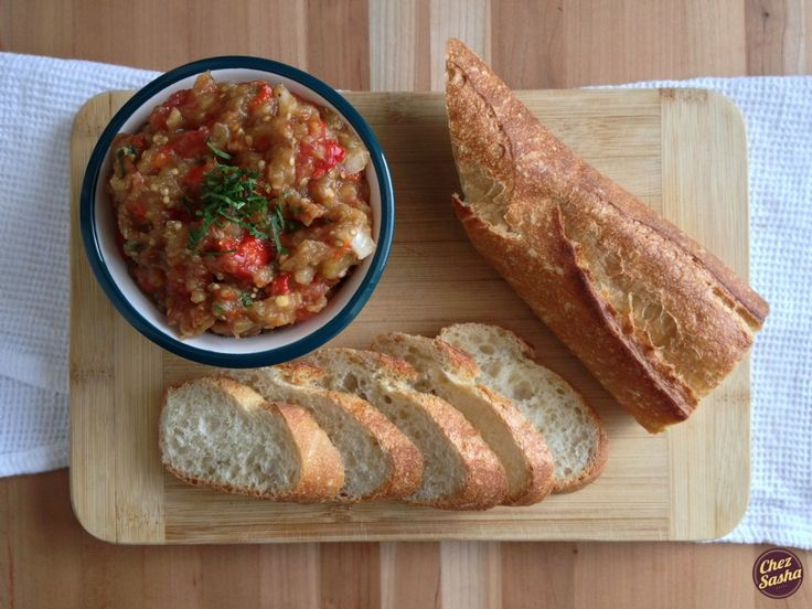Russian-style Roasted Eggplant Spread | Rossiya Recipes | Pinterest