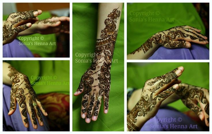 Henna Mehndi Green St : Green mehndi design arabic colorful henna art