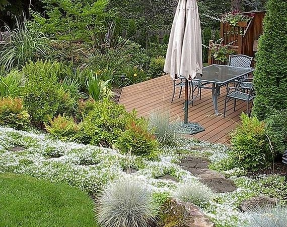 Pictures Of Sloped Backyard Landscaping Ideas : landscaping ideas
