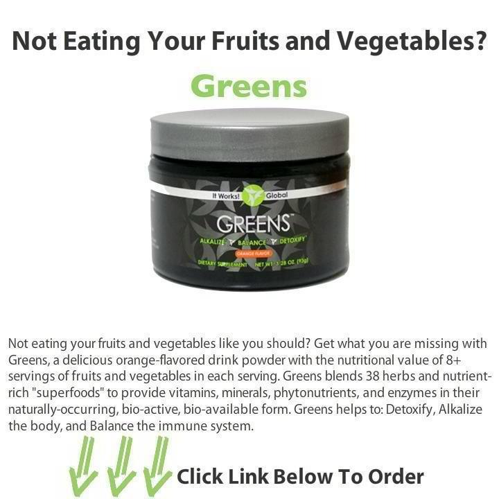 Greens detoxifying alkalizing drink powder