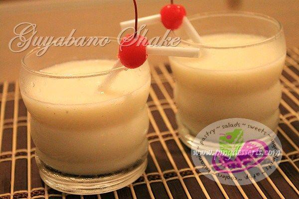 Guyabano Shake Recipe http://www.pingdesserts.com/guyabano-shake