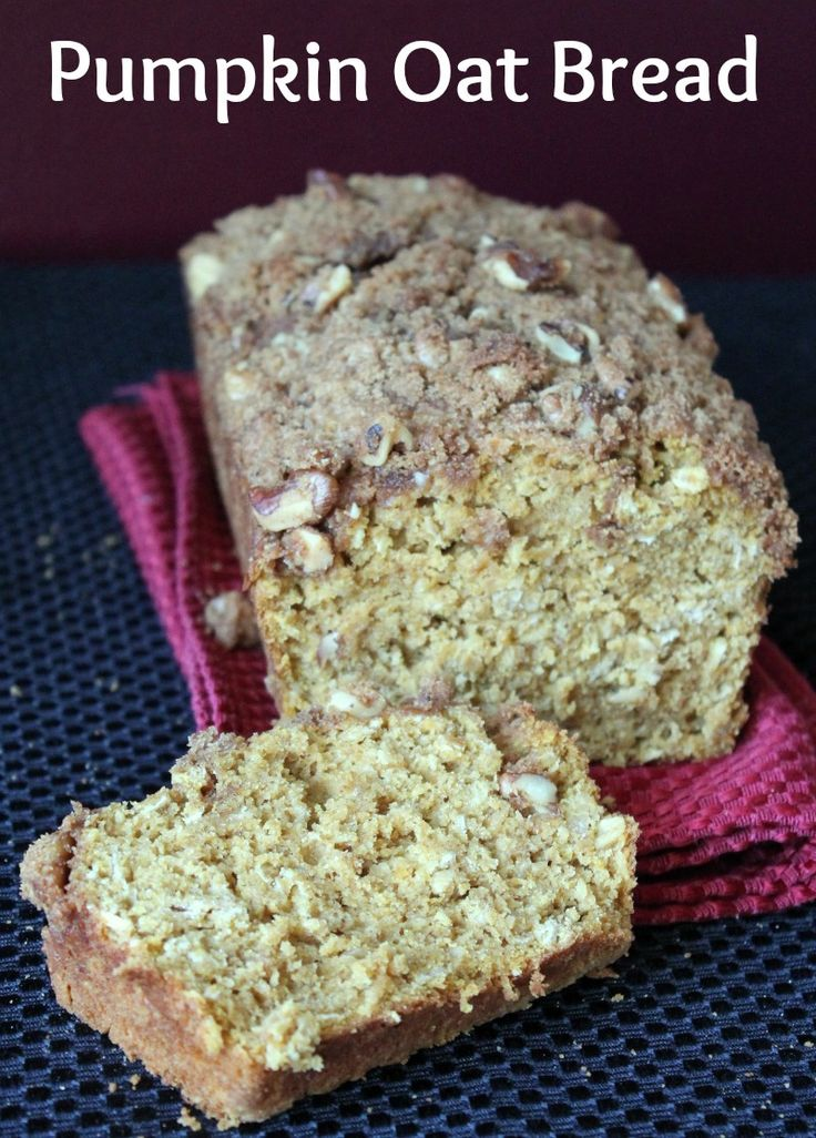 Pumpkin Oat Bread with Walnut Streusel Topping 169 Calories and 5 ...