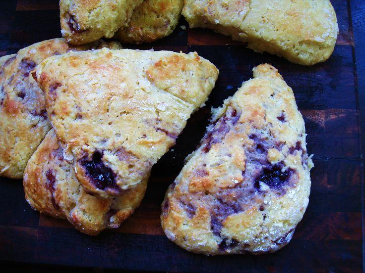 Red White & Blue Jam Scones-I enjoy a patriotic scone