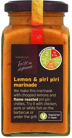 Sainsbury's Taste the Difference Lemon & Piri Piri Marinade (260g)