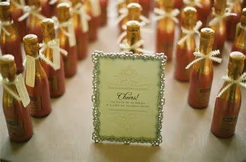 Mini Champagne Bottle Wedding Favors
