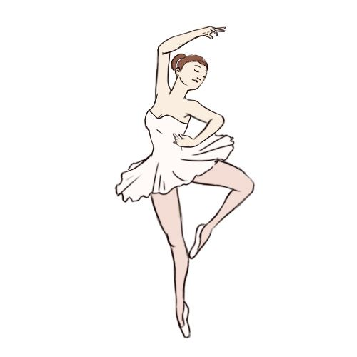 how to draw a ballet shoe step by step