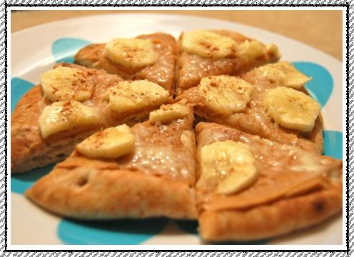 Breakfast Pita Pizza (with sunflower butter sub.) {bebemeals}
