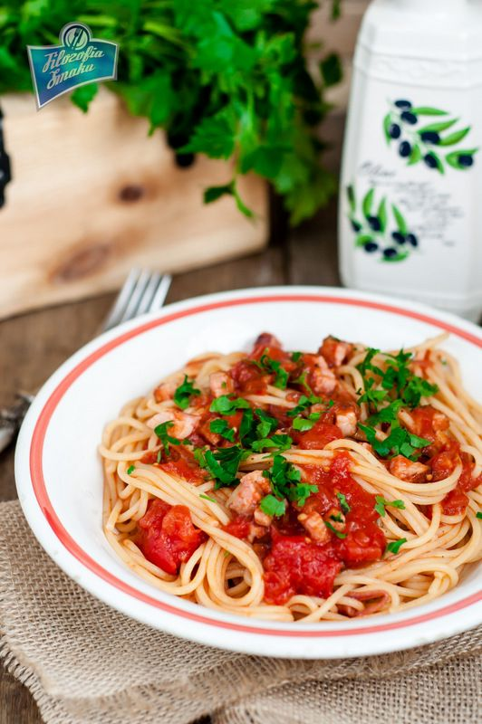 Spaghetti all'amatriciana | Pizza and Pasta | Pinterest