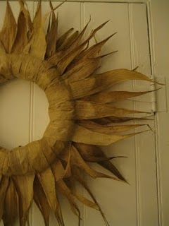 corn stalk wreath tutorial- love it