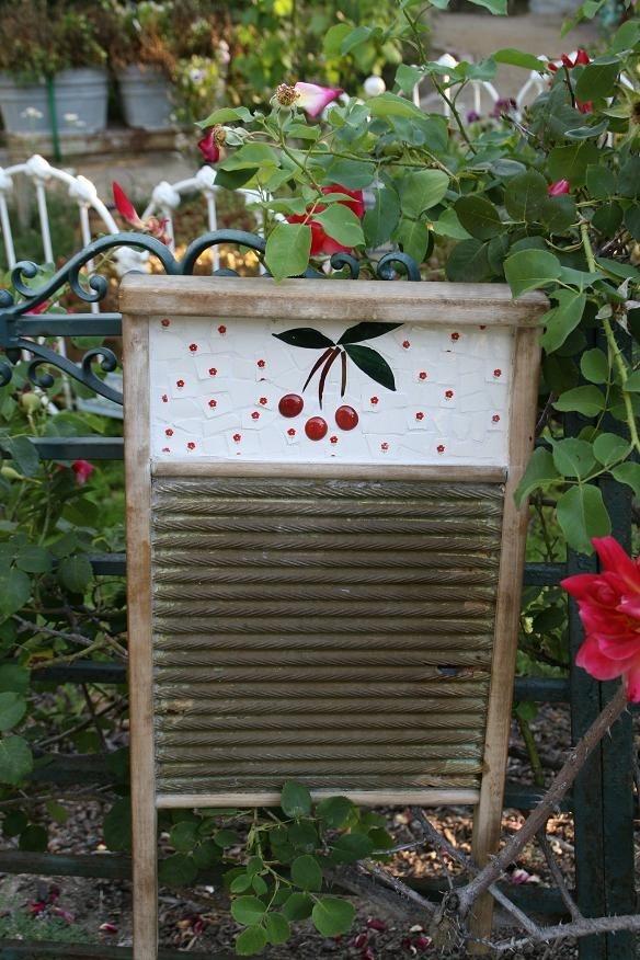 Vintage Primitive Cherry Wash Board