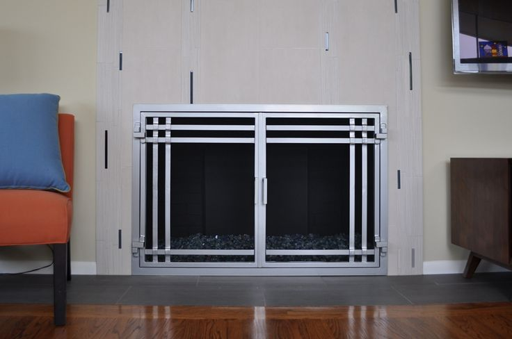 Contemporary Fireplace Doors Remodel Fireplace Remodel Pinterest