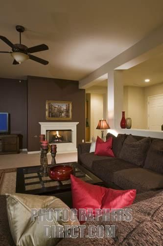 Pin by tiffany tharp on basement ideas pinterest Red accents for living room