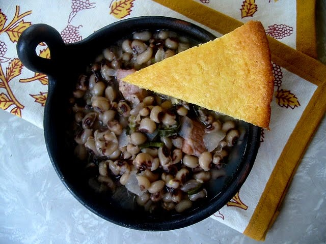 Black Eyed Peas & Southern Skillet Cornbread - Oh, yes...That's the ...