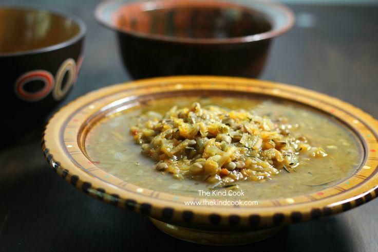 Zucchini & Lentil Soup http://thekindcook.com/smokey-zucchini-lentil ...