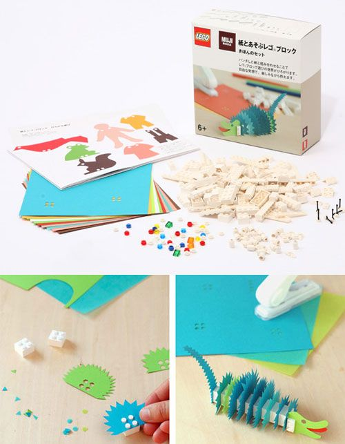 Lego and paper craft kits from Muji. Available at this etsy shop http://www.etsy.com/shop/feltcafe?section_id=7593079